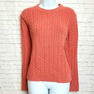 CROFT & BARROW orange cable knit cotton sweater
